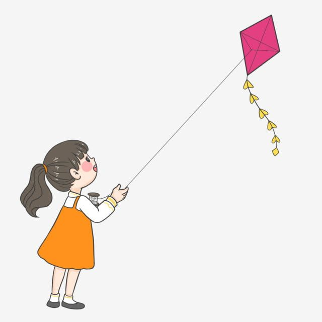 Girl Flying A Kite Png Flying Kites Spring Tours Kite Flying Png Transparent Clipart Image And Psd File For Free Download Kite Flying Black And White Cartoon Kite
