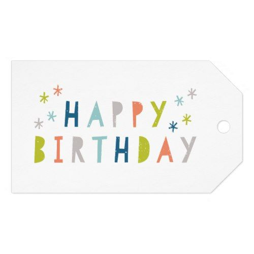 Happy brithday gift tag pack of 10
