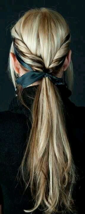 Cute hair for softball season:)