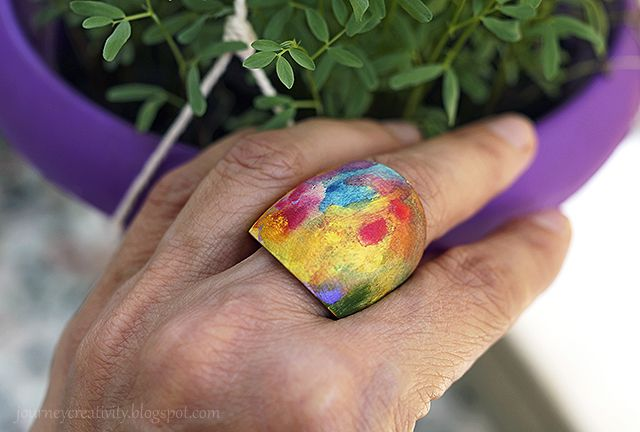 Journey into Creativity: Wooden art ring