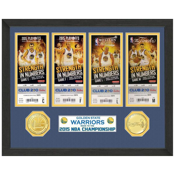 Golden State Warriors Highland Mint 2015 NBA Finals Champions Replica Ticket Collection Photomint - $49.99
