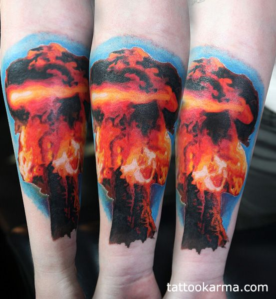 41 best Mushroom Cloud Skull Tattoos Designs images on ...