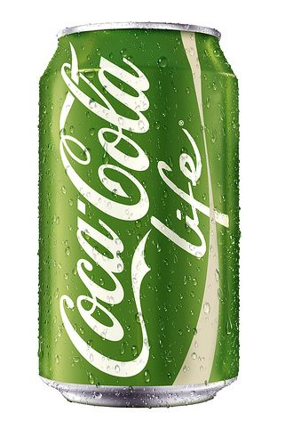 Love this stuff! Coca~Cola Life. Sweetened with cane sugar and stevia. No chemical sweeteners! Only 90 calories in a 12 oz can!