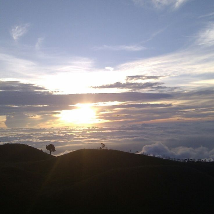 Sunrise in Mt. Prau - Dieng, Indonesia