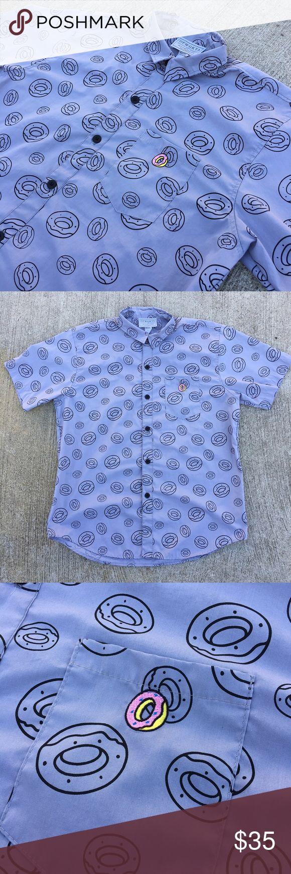 Odd Future Donut Shirt Very nice OFWGKTA button up. Very clean and unique item. Retails for $60. No rips, holes, or tears. Size XL, fits true to size OFWGKTA Shirts Casual Button Down Shirts