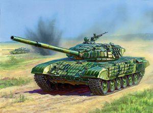 ZVEZDA Russian Model Tank Kit 3551 Main Battle Tank T-72B 1/35 Scale