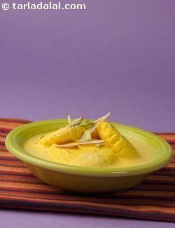 Kesar Rasmalai recipe   Rasmalai Mithai Recipes   by Tarla Dalal   Tarladalal.com   #2011
