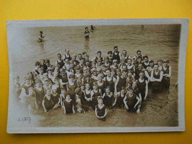 3 x Men Women Children Seaside Bathing Swimming Costumes *Vintage* RP c1920s