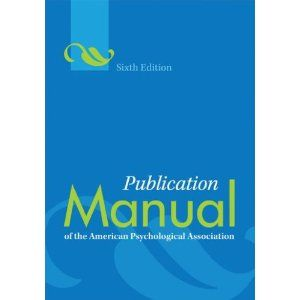#4: Publication Manual of the American Psychological Association, Sixth Edition