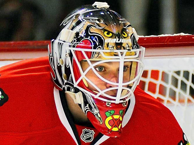 NHL Goalie Masks by Team ('09-'10) - Antti Niemi | Sports Illustrated Kids