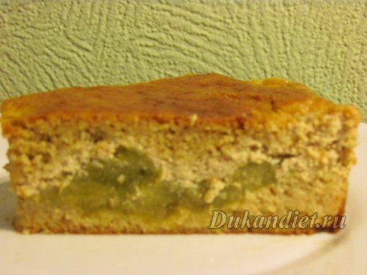 Пирог с ревенем и корицей   Диета Дюкана