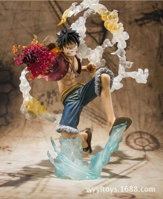 New POP Monkey D Luffy Battle Ver Figure Japan Anime One Piece Loose Hot Gift