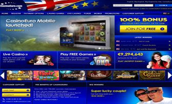 """Casino Euro, founded in 2002, displayed an appropriateness compatible to her brand by greeting us with the UK and European Union flags placed on top of her main page. """"Betsson AB"""" embracing Casino Euro, with her experience of over 40 years, having  ..."""
