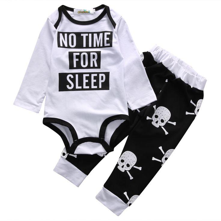 Baby Skull Body Pants Outfit //Price: $13.69 & FREE Shipping //     #skull #skullinspiration #skullobsession #skulls