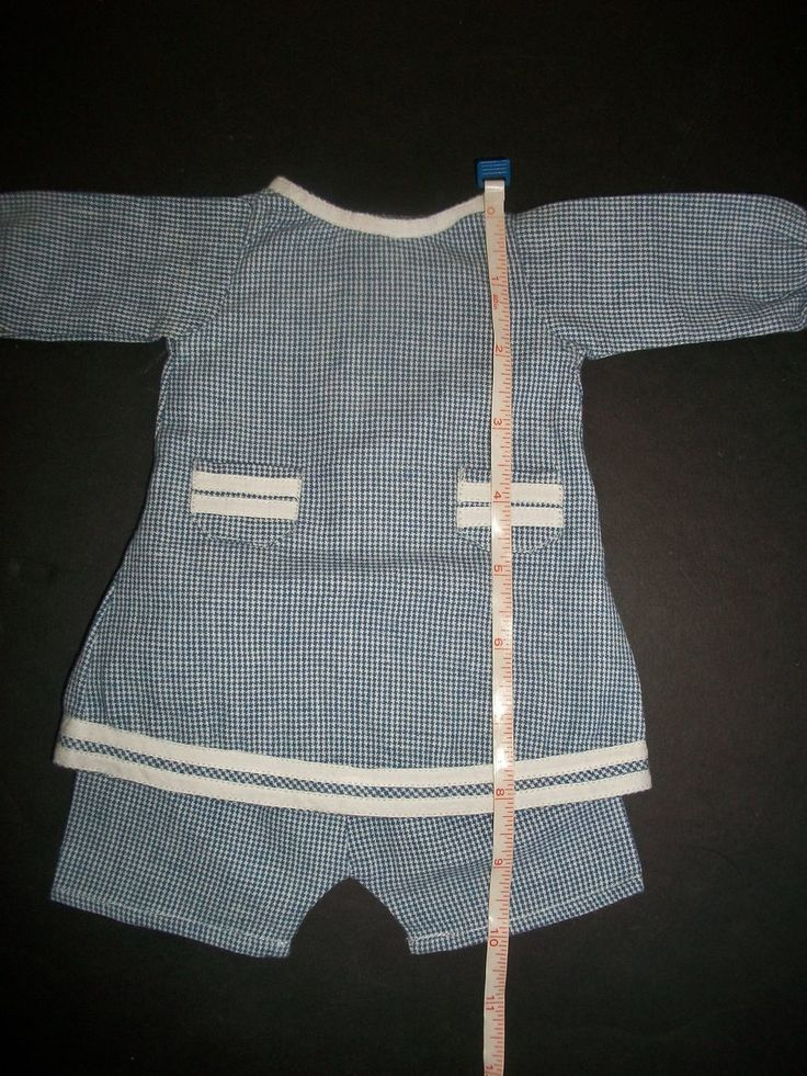 Cute Blue and White Check Character Boy Set from joysofyesterday on Ruby Lane