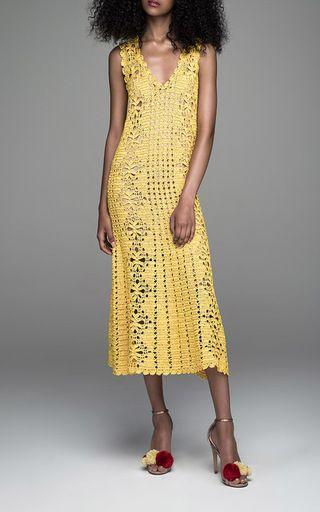 Lemon Lemonade V Neck dress bởi SPENCER Vladimir cho đặt hàng trước trên Moda Operandi