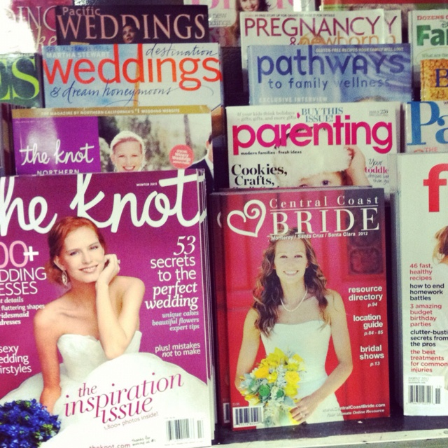 Spotted my photo on the cover of Central Coast Bride magazine at our local bookstore in Santa Cruz. Cool!!!: Bride Magazine, Coast Bride, Local Bookstore, Photo