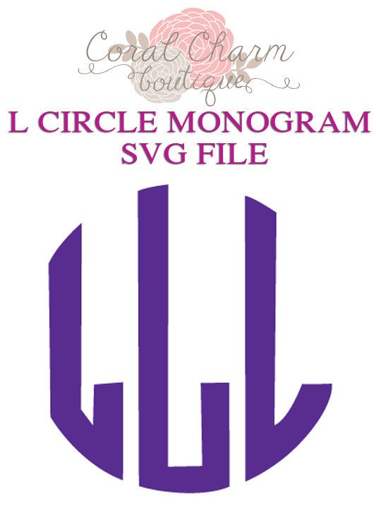 da01fd1a2ce9098566ed79449bee74b8--circle-monogram-letter-l  Letter Monogram Template on