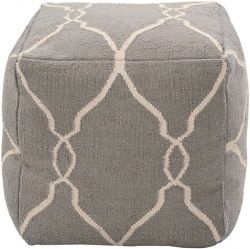 Gray and Ivory Kilim Pouf from IO Metro $199.95: Decor, Ideas, Poufs, Livingroom, Living Room, Ottomans, Furniture, Products