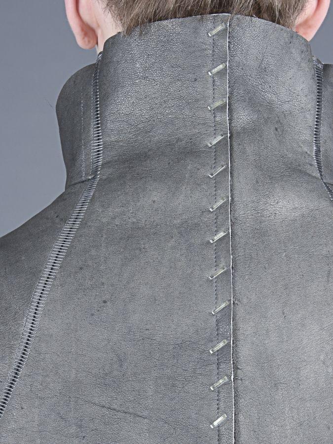 Isaac Sellam men's stapled calfskin jacket | REFLECTONLINE.COM