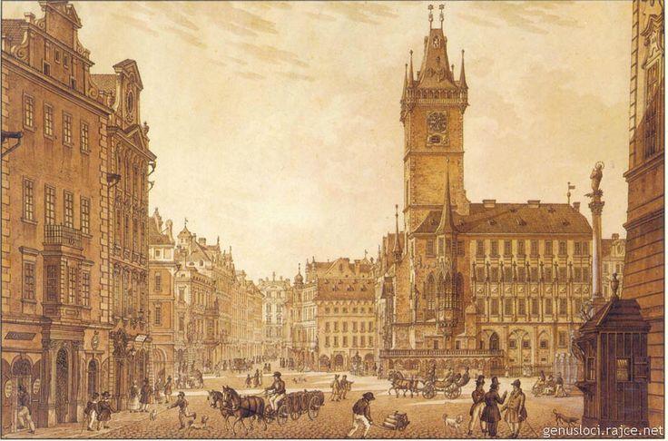 Vincenc Morstadt - grafika Staroměstského náměstí v Praze.