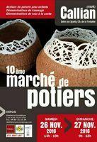 Marché potier de Callian (Var) les 26 et 27 novembre 2016 - Céramiques arts de la ble, décoration, bijoux