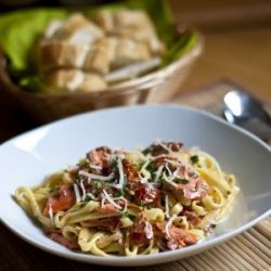 ... fresh tagliatelle. It is incredibly easy to make and sure to impress