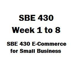 SBE 430 Ecommerce for Small Business Week 1 to 8 SBE 430 Week 1 Case Study SBE 430 Week 2 Case Study SBE 430 Week 2 DQ 1, Consumer Attitude SBE 430 Week 2 DQ 2, Web 2.0 SBE 430 Week 3 case Study SBE 430 Week 3 DQ 1, Learning from the Dot Com Failure SBE 430 Week 3 DQ 2, E-Business Management Responsibility SBE 430 Week 4 Case Study SBE 430 Week 4 DQ 1, Dell gets closer to its customers online SBE 430 Week 4 DQ 2, E-Marketing Plan