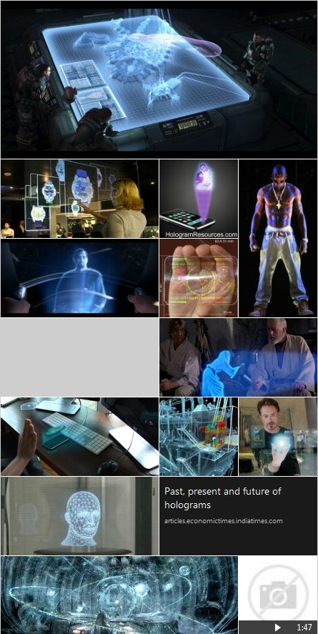 Past Present and Future of Hologram Technology. Giant long lead times of development but still a future ahead