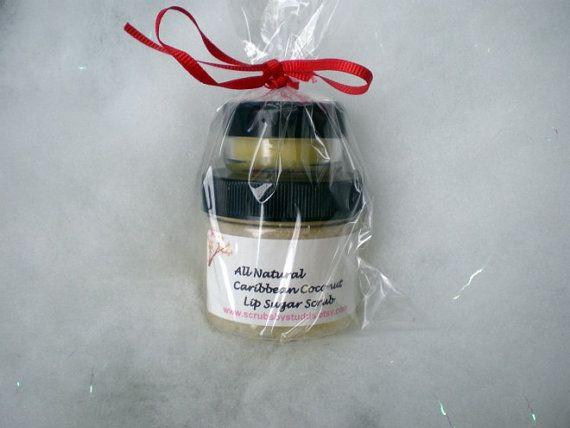 Lip Sugar Scrub and Lip Balm BRIDAL FAVORS Set by ScrubsbyStudds, $65.00