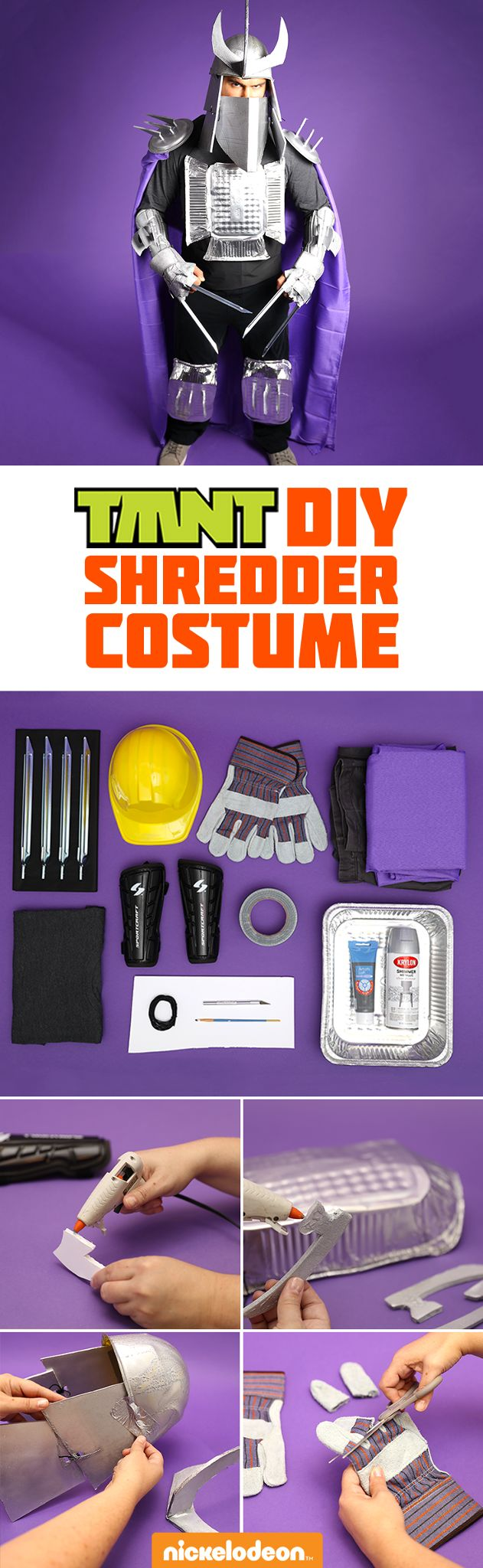 Show off your craft skills and TMNT fandom with this DIY Shredder Halloween costume! It's a quick, easy, inexpensive way to make a lasting impression. See how simple it is with this how-to tutorial!