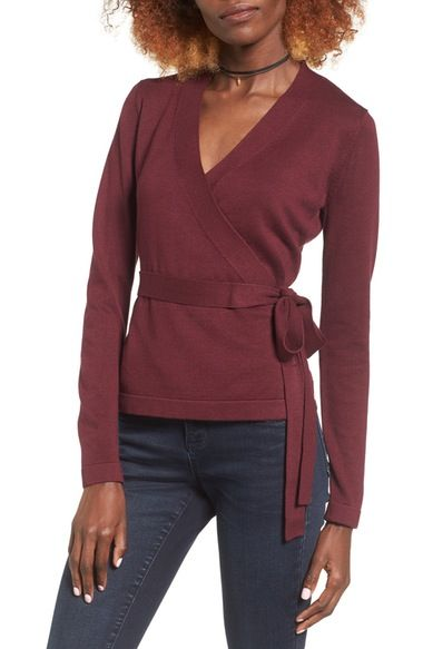 Glamorous Wrap Sweater available at #Nordstrom