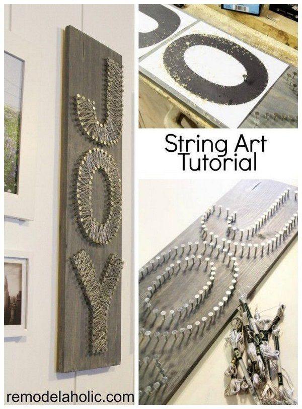 DIY String Art  Letters Tutorial