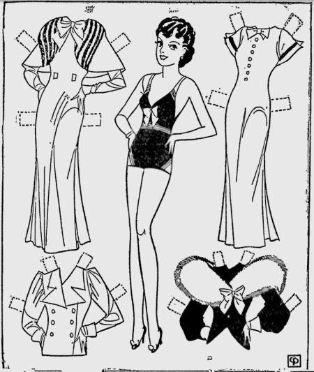 40 best Etta Kett Paper Dolls images on Pinterest | Newspaper paper ...