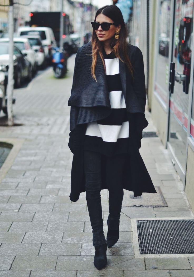 MAJA WYH Stripes + Black http://FashionCognoscente.blogspot.com