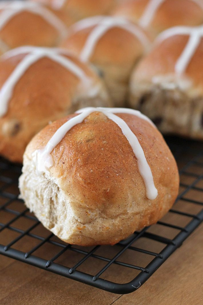 Bake up a batch of these fluffy, perfectly spiced Vegan Hot Cross Buns to make your Easter celebration complete! So good, you'll want to make them all year! #hotcrossbuns #veganeaster #hotcrossbuns #veganhotcrossbuns