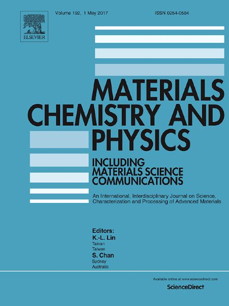 Публикации в журналах, наукометрической базы Scopus   Materials Chemistry and Physics #Materials #Chemistry #Physics #Journals #публикация, #журнал, #публикациявжурнале #globalpublication #publication #статья