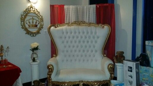 Red & gold royal prince baby shower