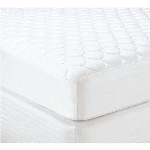 400 Thread Count Combed Cotton Quilted Hotel Mattress Pad With Polyester Filling