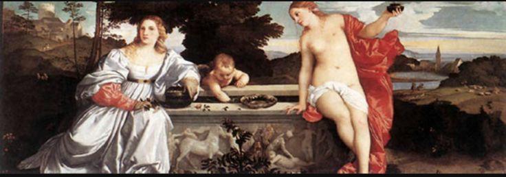 Amour sacré et amour profane, Titien  1,19m x 1,65m  1538