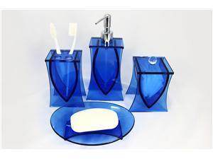Best Misc House Decorating Ideas Images On Pinterest Cushion - Blue glass bathroom accessories for bathroom decor ideas