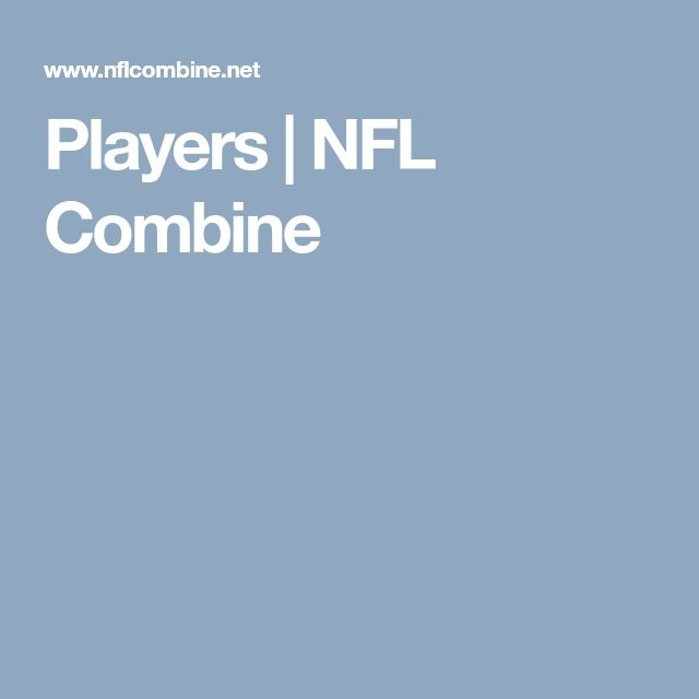 Players | NFL Combine