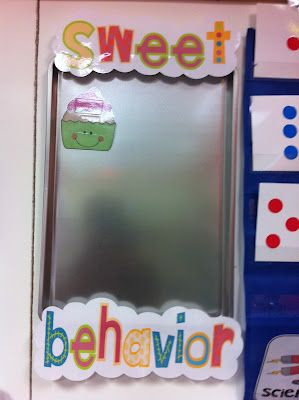 "Click to see this teacher's ""Sweet Behavior"" idea... it's a play on brownie points and it's a class goal.  When the baking sheet is filled with cupcakes, a child in the class chooses a cupcake.  Rewards are written on the back and the whole class gets to enjoy the reward the next day.  For example, if it reads ""Desk Friend,"" each child gets to bring in a stuffed animal from home to sit with them all day."