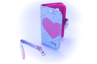 Estuche Alcatel One Touch C1 Pop Corazon Azul — HighTeck Store