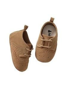 Gap Baby Boy Girl Size 3 6 Months Beige Brown Suede Brogue Booties Shoes | eBay