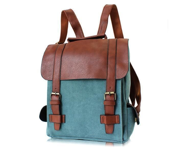 Women Vintage Backpack Travel Bag Rucksack Bookbags Laptop Canvas School Bag P74