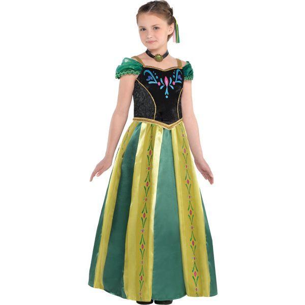 Girls Anna Coronation Costume - Frozen