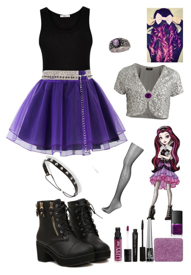 """""""DIY Halloween costume: Raven Queen"""" by crazydirectionergirl ❤ liked on Polyvore featuring VILA, Oasis, Daytrip, Chicwish, Topshop, shu uemura, Butter London, 1928, NARS Cosmetics and CARGO"""