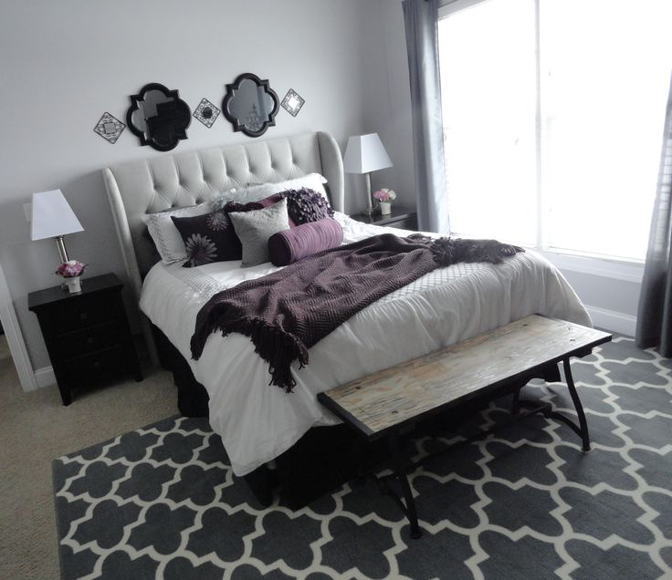 1000+ Ideas About Purple Grey Bedrooms On Pinterest