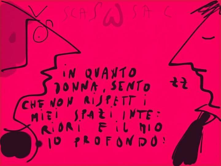 """""""in quanto donna..."""" #scassac #amorisfigati"""